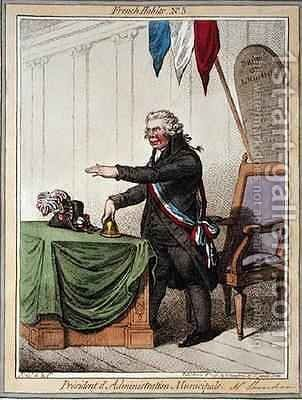 President de lAdminstration Municipale by James Gillray - Reproduction Oil Painting