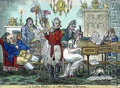 A Little Music or the Delights of Harmony by James Gillray - Reproduction Oil Painting