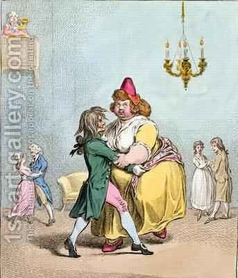 Waltzer au Mouchoir by James Gillray - Reproduction Oil Painting