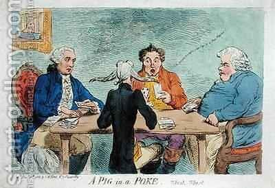 A Pig in a Poke by James Gillray - Reproduction Oil Painting