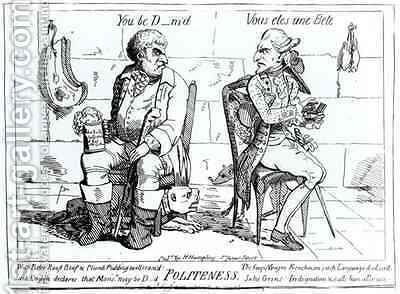 Politeness by James Gillray - Reproduction Oil Painting