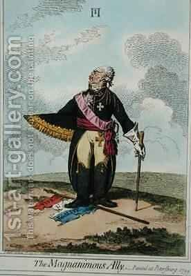 The Magnanimous Ally by James Gillray - Reproduction Oil Painting