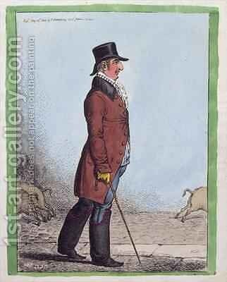 Portrait of Charles Howard Duke of Norfolk 1746-1815 by James Gillray - Reproduction Oil Painting