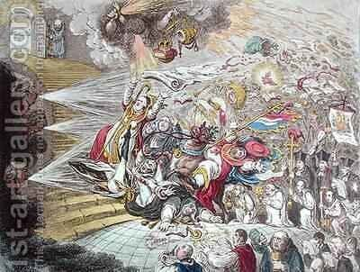 End of the Irish Farce of Catholic Emancipation by James Gillray - Reproduction Oil Painting