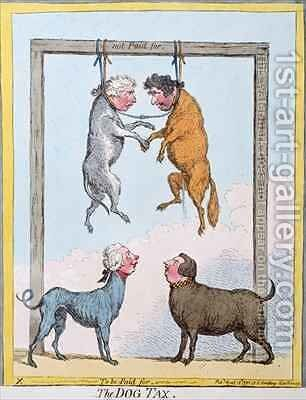 The Dog Tax by James Gillray - Reproduction Oil Painting