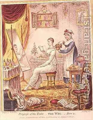Progress of the Toilet by James Gillray - Reproduction Oil Painting