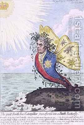 The Great South Sea Caterpillar transformd into a Bath Butterfly by James Gillray - Reproduction Oil Painting