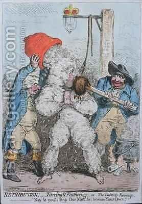 Retribution Tarring and Feathering or The Patriots Revenge by James Gillray - Reproduction Oil Painting