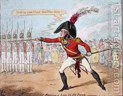 Forming a Line on the Parade by James Gillray - Reproduction Oil Painting