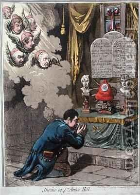Shrine at St Anns Hill by James Gillray - Reproduction Oil Painting