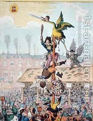 Election Candidate or the Republican Goose at the Top of the Pole by James Gillray - Reproduction Oil Painting