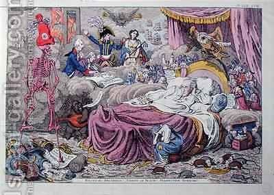 Political Dreamings Visions of Peace Prospective Horrors by James Gillray - Reproduction Oil Painting