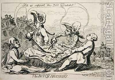 The Dutch Divisions 2 by James Gillray - Reproduction Oil Painting