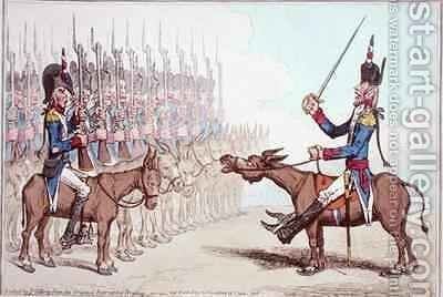 LInfanterie Francaise en Egypte or Le General lAsne converted to Ibrahim Bey by James Gillray - Reproduction Oil Painting