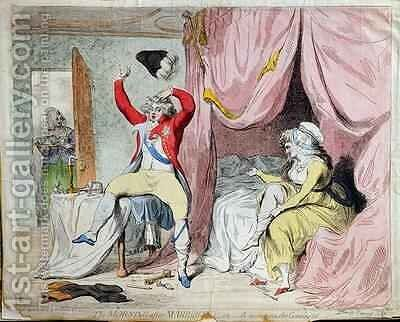 The Morning after Marriage or A scene on the Continent by James Gillray - Reproduction Oil Painting