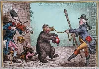 The Bear and his Leader by James Gillray - Reproduction Oil Painting