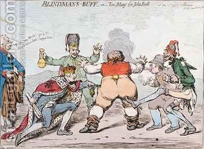 Blindmans Buff or Too Many for John Bull by James Gillray - Reproduction Oil Painting