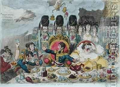 The Hand Writing upon the Wall by James Gillray - Reproduction Oil Painting
