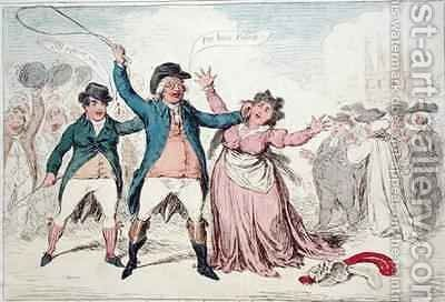 A Proof of the refind Feelings of an amiable character by James Gillray - Reproduction Oil Painting