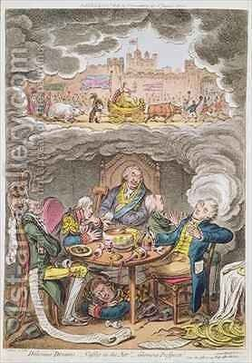 Delicious Dreams Castles in the Air Glorious Prospects vide An Afternoon Nap after the Fatigue of an Official Dinner by James Gillray - Reproduction Oil Painting