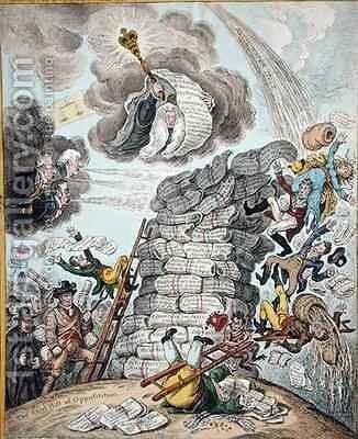 Overthrow of the Republican Babel by James Gillray - Reproduction Oil Painting
