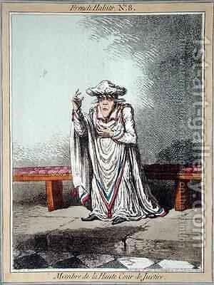 Member of the High Court of Justice plate 8 from French Habits by James Gillray - Reproduction Oil Painting