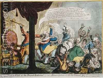 A Kick at the Broad bottoms by James Gillray - Reproduction Oil Painting