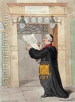 The Chancellor of the Inquisition marking the Incorrigibles by James Gillray - Reproduction Oil Painting