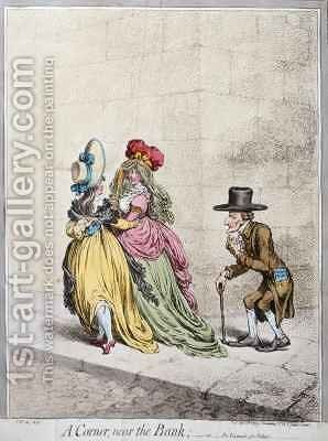 A Corner near the Bank or An Example for Fathers by James Gillray - Reproduction Oil Painting