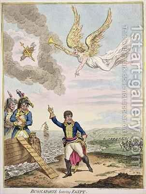 Buonaparte leaving Egypt 2 by James Gillray - Reproduction Oil Painting