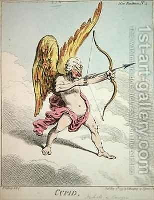 Cupid from the New Pantheon No 4 2 by James Gillray - Reproduction Oil Painting