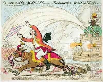 The coming on of the Monsoons 2 by James Gillray - Reproduction Oil Painting