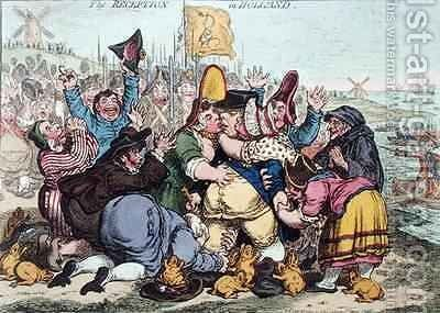 The Reception in Holland 2 by James Gillray - Reproduction Oil Painting