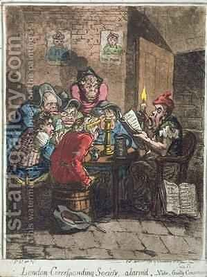 London Corresponding Society alarmd or Guilty Conscience 2 by James Gillray - Reproduction Oil Painting