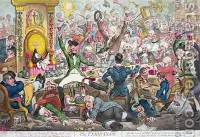 The Union Club 5 by James Gillray - Reproduction Oil Painting