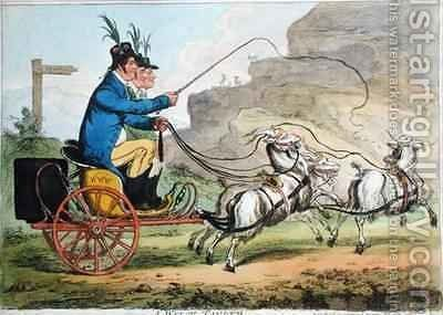 A Welch Tandem 2 by James Gillray - Reproduction Oil Painting