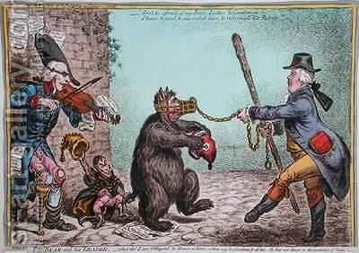 The Bear and his Leader 2 by James Gillray - Reproduction Oil Painting