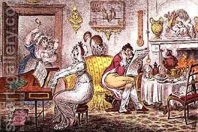 Matrimonial Harmonics 2 by James Gillray - Reproduction Oil Painting