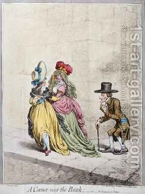 A Corner near the Bank or An Example for Fathers 2 by James Gillray - Reproduction Oil Painting