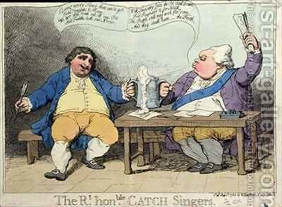 The Right Honourable Catch Singers by James Gillray - Reproduction Oil Painting