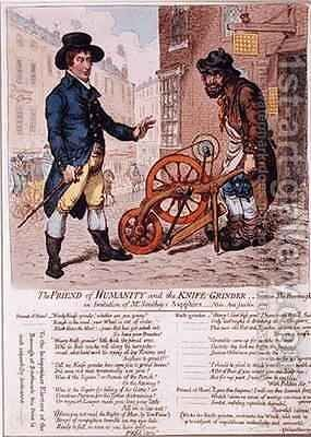 The Friend of Humanity and the Knife Grinder by James Gillray - Reproduction Oil Painting