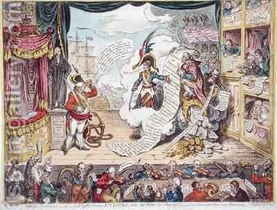 Pacific Overtures or A Flight from St Clouds over the water to Charley  a new Dramatic Peace now Rehearsing by James Gillray - Reproduction Oil Painting