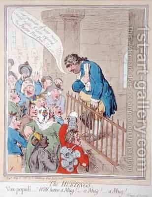 The Hustings by James Gillray - Reproduction Oil Painting