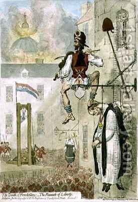 The Zenith of French Glory The Pinnacle of Liberty Religion Justice Loyalty and all the Bugbears of Unenlightened Minds Farewell by James Gillray - Reproduction Oil Painting