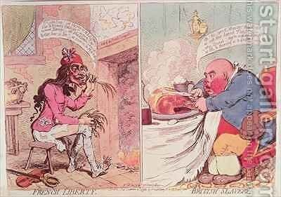 French Liberty British Slavery by James Gillray - Reproduction Oil Painting