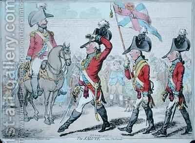 The Salute or The Parade by James Gillray - Reproduction Oil Painting