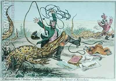 LInsurrection de lInstitut Amphibie or The Pursuit of Knowledge by James Gillray - Reproduction Oil Painting