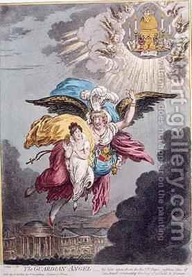 The Guardian Angel by James Gillray - Reproduction Oil Painting