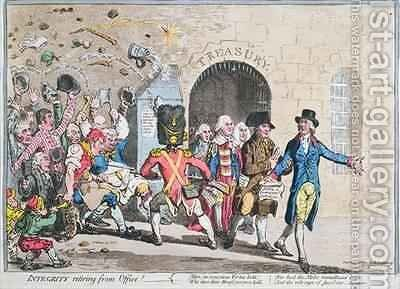 Integrity Retiring from Office by James Gillray - Reproduction Oil Painting