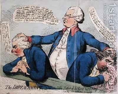The Impeachment or The Father of the Gang turned Kings Evidence by James Gillray - Reproduction Oil Painting